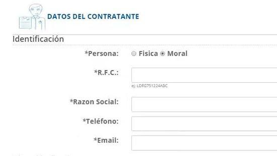 Datos de contratante - persona moral - traigoseguro.com