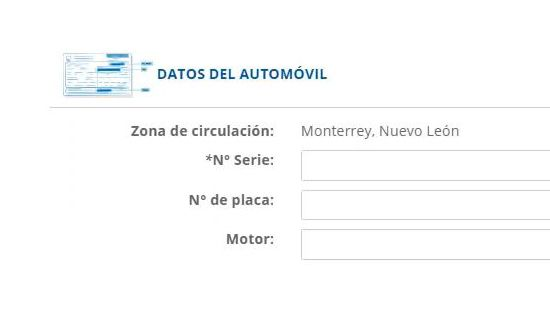 Datos del automovil - traigoseguro.com