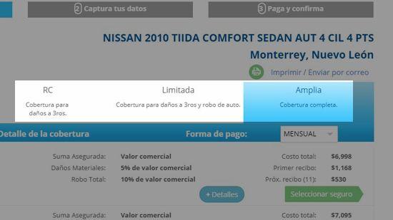 Selección entre coberturas amplia, limitada y responsabilidad civil - traigoseguro.com